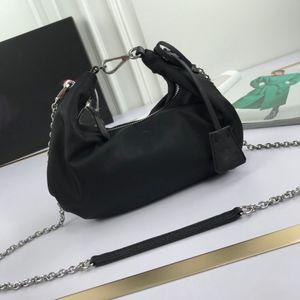 New arrival nylon women hobos crossbody bags brand designer fashion cloud chain shoulder bags big capacity axillary package female handbags
