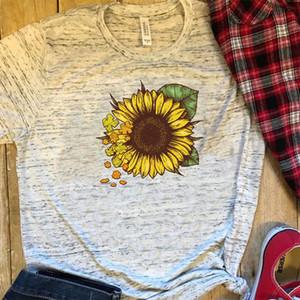 T-shirts T-shirts de Harajuku Mode graphique T-shirts femmes de couleur T-shirt Cactus Slim Fit Cute Girl Tops été cadeau pour Girlfriends