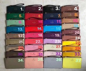 2020 sacs d'embrayage portefeuilles wristlets concepteur de marque pour les femmes couleurs PU 37 fermeture à glissière