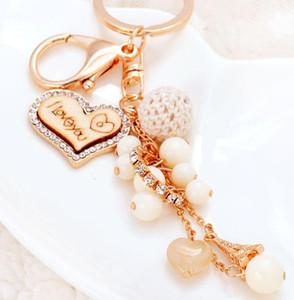 L'amour Forme Keychain de coeur Porte-clés Porte-Monnaie Sacs Pendentif Voitures anneau chaussures Chaînes Porte-perle Métal Acrylique Porte-clés Party Favor GGA2774