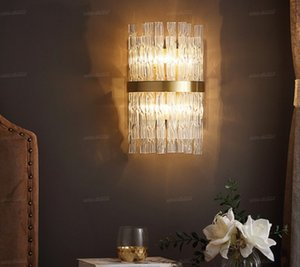 Classic copper sconce living room crystal wall lights arandela wall lamp modern bedside lamps bedroom wandlamp kitchen fixtures LLFA
