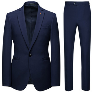 Mens Suits for Groom Tuxedos 2019 AOWOFS Notched Lapel Slim Fit Blazer Two Piece Jacket Pants Vest Man Tailor Made Clothing M-6XL J1906177