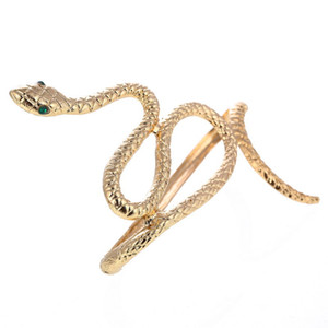 Chique Egito Cleópatra Redemoinho Cobra Braço Cuff Armlet Armband Pulseira ajustável