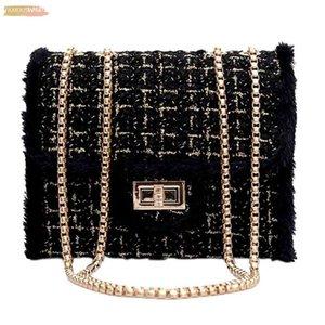 Women Square Bag Casual Velvet Shoulder Lock Diagonal Cross Bag Women Elegant Black Vintage Crossbody Bags Mochila8 Ll