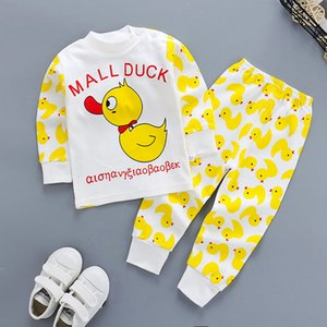2020 Autumn Childrens Clothing Autumn Clothes Childrens Underwear Set Cotton Childrens Autumn Clothes Pants Baby Pajamas Home Service