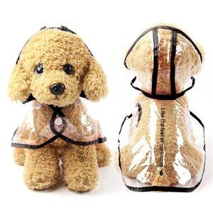 New Mini Pet Jacket For Rain Dog Transparent Raincoat Adjuastable Waterproof Coat For Small Medium Large Dogs Hooded Windproof