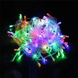 La décoration de Noël de ficelle de LED allume 10M 100 la ficelle de LED allume 110V 220V approprié au mariage de partie LED