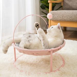 Vente chaude Animaux Hamac Chats Lits d'intérieur Maison Cat Mat chaud petits chiens Lit Kitten Fenêtre Lounger couchage Mignon Tapis Produits T200618