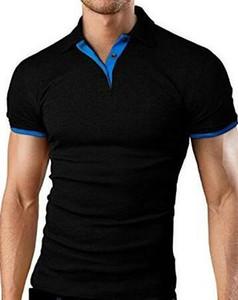 OLOEY Shirt Männer Polos Para Hombre Männer Kleidung 2019 Männer Hemden Freizeit-Sommer-Hemd Cotton Solide Croc 5XL