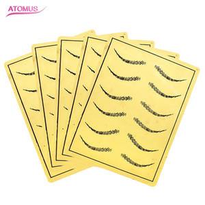 5pcs Eyebrow Microblading Tattoo Practice Skin 6 Pairs Eyebrows Fake False Skin Eyebrow Microblading Tattoo Practice Skin