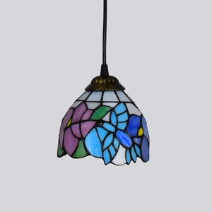 15CM creative Tiffany chandelier stained glass lamps retro rural bird personality decoration bar table small chandelier American lamp