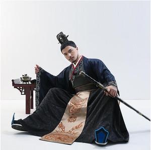 Han Dynasty Men's Scholar Offizielle Kleidung Ritterlich talentierte Ministerin Bekleidung Film TV Performance Klassische Verbesserung Hanfu