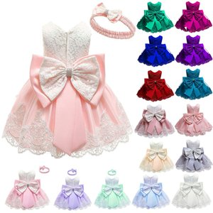 Kafa bandı 20 Renk Online Alışveriş Çocuklar Balo Kolsuz Orta Buzağı Küçük Kızlar Elbise 19120701 ile Dantel Patchwork Bebek Katmanlı Elbise