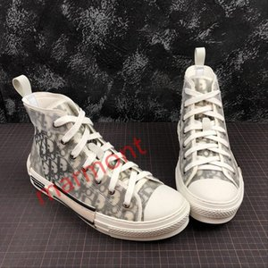 19SS Flowers Technical Canvas B23 B24 High Top Sneakers in Oblique xshfbcl Mens Brand B23 Designer Shoes Women Fashion B23 Oblique High Top