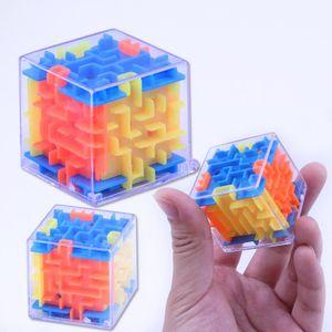3D Küp Bulmaca Labirent Oyuncak Beyin Bulmaca Labirent Kutusu El Oyun Durumda Oyun Meydan Fidget Oyuncaklar Denge Eğitici Oyuncaklar çocuklar için