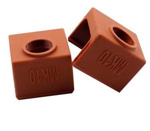100pcs MK10 silicone Sock brun au lieu céramique Isolation SILICONE CHAUFFE BLOC DE COUVERTURE