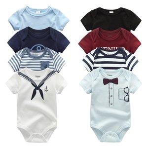 2020 Новый 4шт / Lot Unicorn Bodysuits Baby Boy Одежда Ropa Unisex Хлопок Baby Girl Одежда с коротким рукавом Девочка Одежда