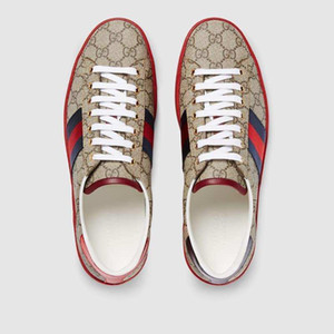 Gucci shoes neue 2020 Schwarz Little Bee Schuhe Men Casual Outdoor-Dämpfung hococal Turnschuh-Mann-Plus Size Male Schuhe Weiß Leder-Schuhe