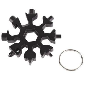 Schneeflocke 12-in-1 Multi-Tool Sechskantschlüssel EDC Flaschenöffner Schraubendreher Schlüsselanhänger - Multifunktions-Gadget Outdoor-Karte Fahrradreparatur