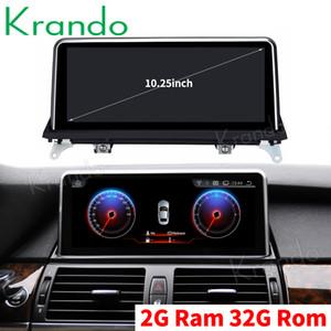 Krando Android 9.0 sistema de navegação 10,25 '' carro para BMW X5 E70 / X6 E71 2010-2013 car audio player de rádio multimedia som do carro GPS dvd