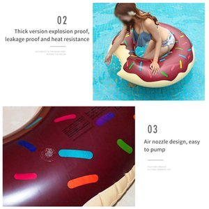 Donut Swimming Circle PVC Practical Beach Sea Party Inflatable Mattress Water Adult Mattress Water Child Adults Life Buoy