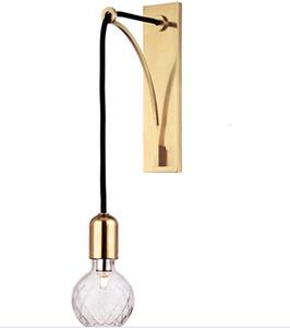 Postmodern American Simple Bedroom Lampada da comodino da comodino Nordic Bronze Living Room Studio Hallway Light Mirror Headlamp LLFA
