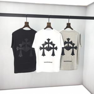 Лучшие предложения по продаже мужских футболок новых звезд фейерверк с короткого рукавом моды прилива бренд пар футболка хлопок хип-хоп дно рубашки -669