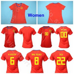 España Mujeres PAREDES Jersey 2019 Copa del Mundo Dama Fútbol TORREJON TORRECILLA LOSADA PUTELLAS SAMPEDRO MESEGUER Camiseta de fútbol Kits de uniforme