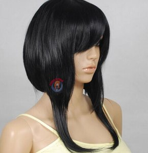 ENVÍO GRATIS + + + 401 16 pulgadas Hi_Temp Series Black Shaggy cut Cosplay DNA Wigs