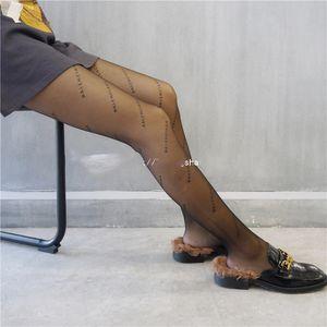 DHL 10PAIRS Mesh Stockings Women Fashion Tights English Letter Long Socks Translucent Leggings Sexy Anti-Hook Pantyhose New China Factory