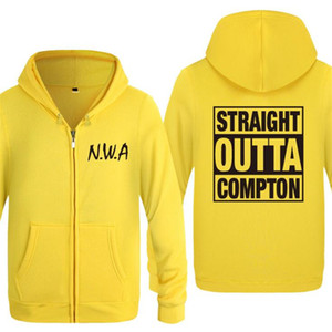 Herren Hoodie Rock-NWA Straight Outta Compton Hoodies Männer Hip Hop Fleece Langarm-Reißverschluss-Jacken-Mantel-Sweatshirt Skate Anzug