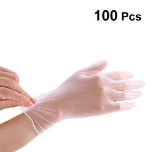 100pcs Tek kullanımlık eldiven PVC El Koruyucu Ev Temizlik Açık Çalışma İçin Eldiven Çok Amaçlı Dokunmatik Ekran Eldiven