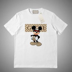GUCCI Tişört Streetwear Yaz Pamuk Tişörtler Kısa Kollu Casual Tops Tişörtler baskılı 2019 Tişörtlü Mens Hip Hop mektup