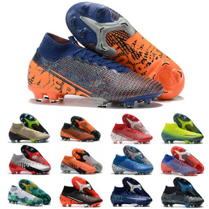 Nike Top-Qualität Mensfußballschuh Mercurial Superfly 7 Elite SG-PRO AC Fußballschuhe Vapors CR7 Fußballschuh Mercurial Dämpfe 13 Elite SG