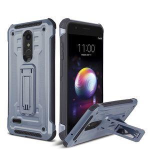 For LG LV3 LV5 Stylo5 Stylo4 K10 2018 Aristo2 Aristo3 V40 V50 K40 Q7 G7 Shockproof Tough Rugged Dual Layer Protective Case Hybrid Kickstand