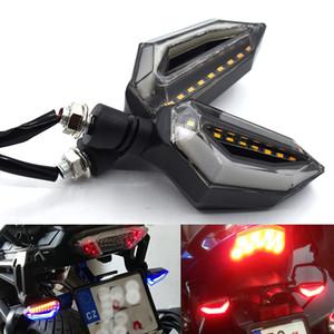 Pour 2Pcs / Set Flowing pour moto Clignotants signal 12LED 12V œillères flexible Bendable Lampe Ambre