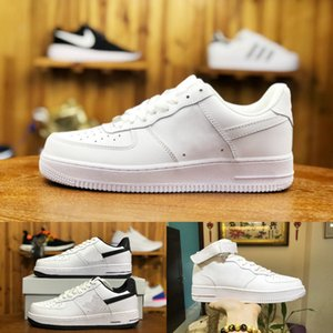 2020 Nike Air Force 1 one airforce Shoes Zapatos Fuerzas baratos solo Dunk 1 Euro Knit de aire de alta Mujeres Todos Blanco Negro Rojo entrenador deportivo Zapatos