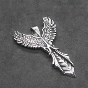 2018 Sword Wings Подвеска из нержавеющей стали 316L Мода Soild Silver Прохладный Eagle Peather Pendant
