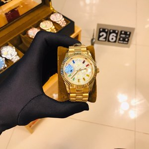 Top designer watch hot sale luxury watch automatic date men's quartz Reloj business fashion stainless steel buckle men's brand watch 9679