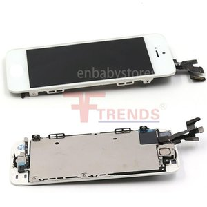 5c For Iphone 5 5s Se Lcd Display & Touch Screen Digitizer Assembly With Home Button And Front Camera Flex Cable & Earpiece 100% Test