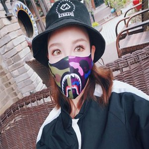 Designer Cycling Mask Camo Shark Purple Red Blue Shark Masks Fashion Face Mask Men Women Face mask Street Style in stock