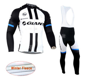 2019 New GIANT team Cycling Winter Thermal Fleece jersey (bib) pants sets men Long Sleeves bike maillot roupa ciclismo zestore
