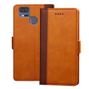оптовые продажи Zenfone 3 ZOOM ZE553KL чехол пу кожаный чехол бумажник мягкий силиконовый откидная крышка капа для Asus ZE553KL 5.5 '' чехол для телефона