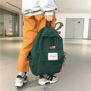 DCIMOR новый водонепроницаемый нейлоновый рюкзак для женщин Сердце кулиской путешествий Сумка девочек-подростков Schoolbag Женщины рюкзак Опрятный Mochila CJ191213