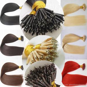 Grade 7A 1,0 g / s 100g / lot Nano Anel Bead laço 100% brasileira Remy Human Hair Extensions Virgin 12-28Inch