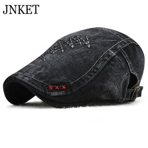 JNKET Leisure Cotton Beret Hat Men Women Flat Caps Peaked Cap Outdoor Travel Sunhat Duckbill Cap for Four Seasons