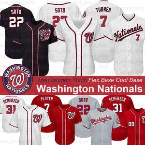 Washington Nationals 2019 Jersey Juan Soto Stephen Strasburg Max Scherzer Anthony Rendon Howie Kendrick Trea Turner Patrick Corbin Jerseys
