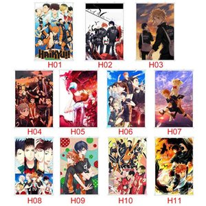 40 * 60CM Haikyuu !! Art Wall Wall Haikyuu Anime Manga Poster Scroll decoração Home Poster de suspensão Cosplay Home Decor
