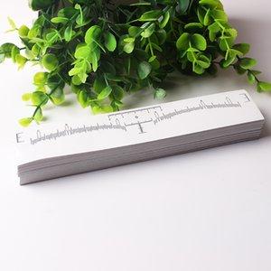 Одноразовые брови правитель стикер клей бровей измерения правитель шаблон трафарет бровей Microblading инструмент для начинающих
