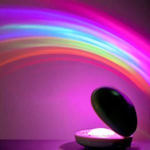 Regenbogen-Nachtlicht-Projektor-Lampen-geformte bunte geführte Projektionslampe Erstaunliches buntes LED-romantisches Nachtlicht